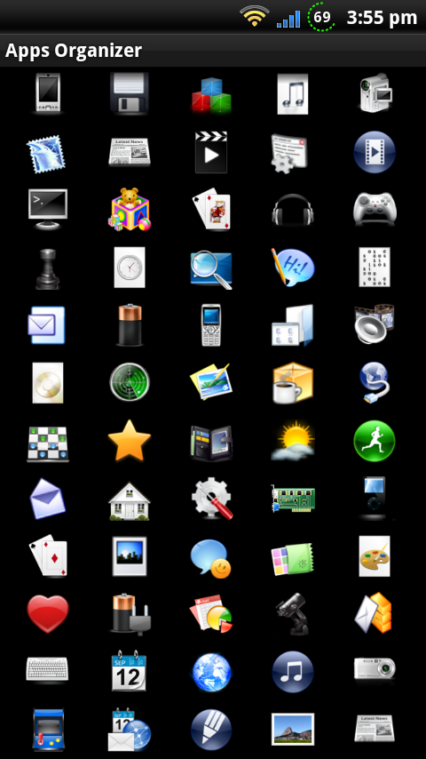 Icons for Apps Organizer