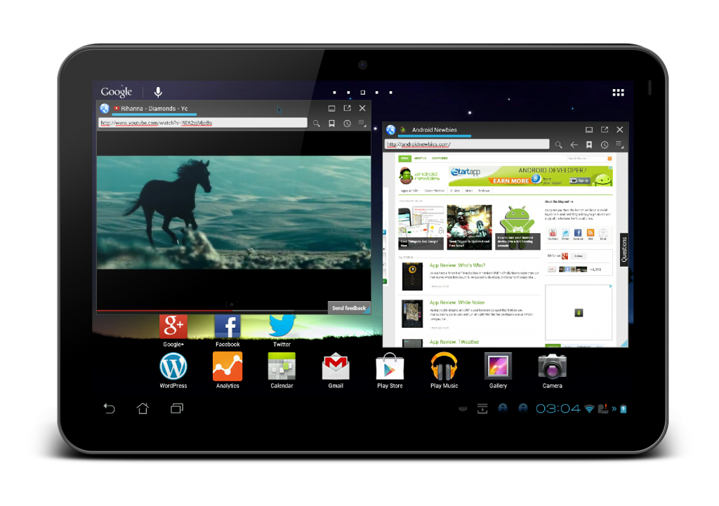 Using Android tablet as a PC-Floating Browser