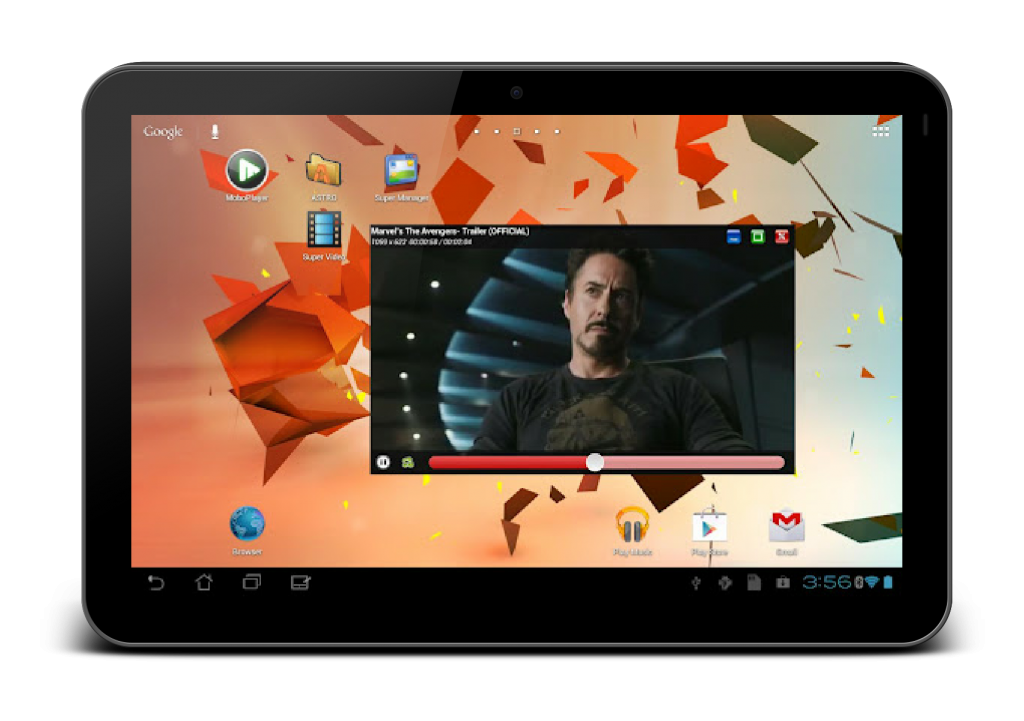 Android Newbies - Using Android tablet as a PC - Popup Video Player