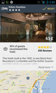 expedia - hotel page